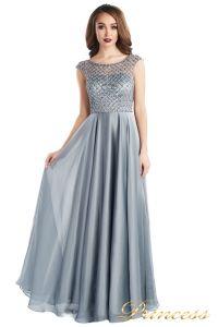 вечернее платье 24166-171 gray. Цвет стальной. Вид 2