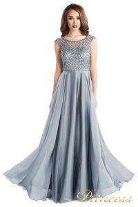 вечернее платье 24166-171 gray. Цвет стальной. Вид 1