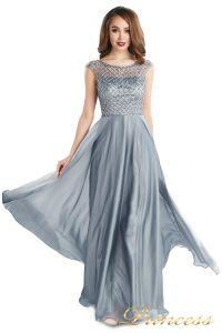 вечернее платье 24166-171 gray. Цвет стальной. Вид 3