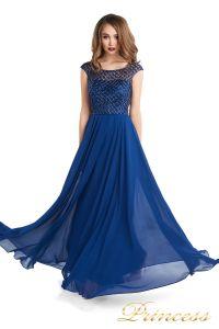 Вечернее платье 24166-240B navy. Цвет синий. Вид 3