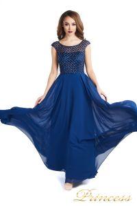 Вечернее платье 24166-240B navy. Цвет синий. Вид 4