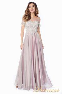 Вечернее платье 24186-1 rose. Цвет серебро. Вид 3