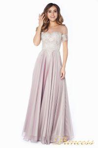 Вечернее платье 24186-1 rose. Цвет серебро. Вид 1