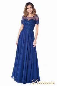 Вечернее платье 246194 navy. Цвет синий. Вид 1