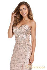 Вечернее платье 249833-nude. Цвет розовый. Вид 4