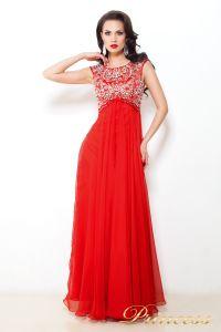 Вечернее платье 2630 R. Цвет красный. Вид 2