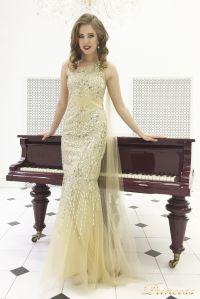 Вечернее платье 264. Цвет золото. Вид 1