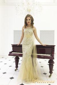 Вечернее платье 264. Цвет золото. Вид 2