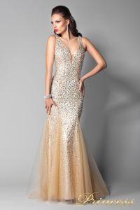 Вечернее платье 265. Цвет шампань. Вид 2