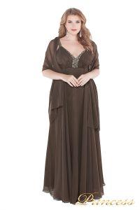 Вечернее платье 276 . Цвет коричневый. Вид 3