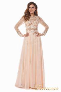 Вечернее платье 2853. Цвет персиковый. Вид 2