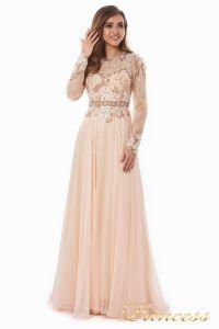 Вечернее платье 2853. Цвет персиковый. Вид 3