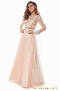 Вечернее платье 2853. Цвет персиковый. Вид 1