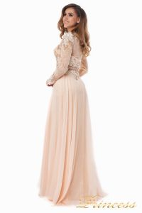 Вечернее платье 2853. Цвет персиковый. Вид 5