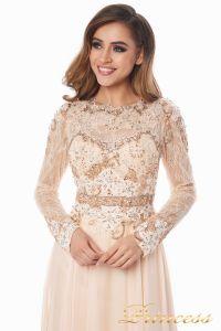 Вечернее платье 2853. Цвет персиковый. Вид 4
