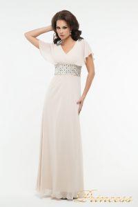 Вечернее платье 30018. Цвет бежевый. Вид 2