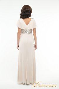 Вечернее платье 30018. Цвет бежевый. Вид 3