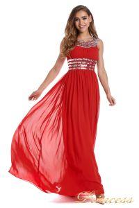 Вечернее платье 300718- coral. Цвет красный. Вид 1