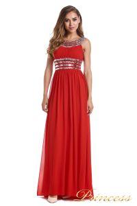 Вечернее платье 300718- coral. Цвет красный. Вид 2