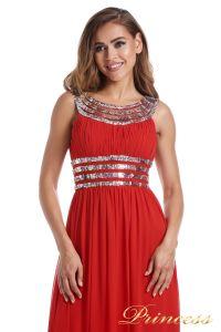 Вечернее платье 300718- coral. Цвет красный. Вид 3