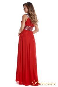 Вечернее платье 300718- coral. Цвет красный. Вид 4