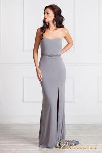 вечернее платье 3200. Цвет стальной. Вид 4