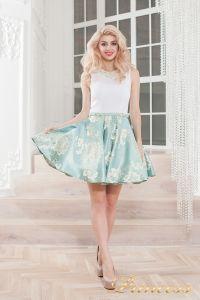 Вечернее платье 359 blue. Цвет голубой. Вид 2