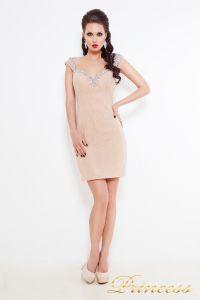 Коктейльное платье 36116. Цвет кремовый. Вид 1