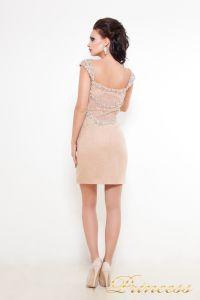 Коктейльное платье 36116. Цвет кремовый. Вид 2