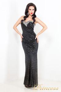 Вечернее платье 3614. Цвет чёрный. Вид 2