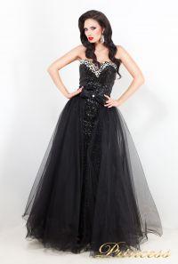 Вечернее платье 3614. Цвет чёрный. Вид 1
