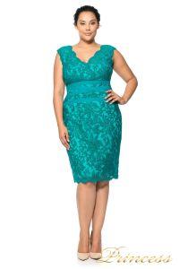 Коктейльное платье 896 MXA. Цвет зеленый. Вид 1