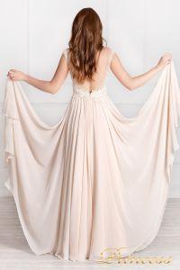 Вечернее платье 4103. Цвет бежевый. Вид 2