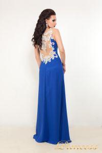 Вечернее платье 42305. Цвет электрик . Вид 2
