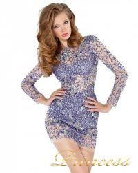 Коктейльное платье 4276. Цвет фиолетовый. Вид 1