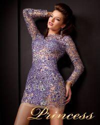Коктейльное платье 4276. Цвет фиолетовый. Вид 2