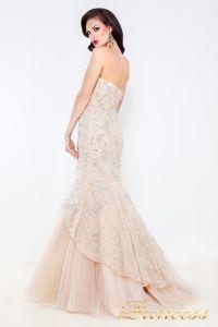 Вечернее платье 4672. Цвет кремовый. Вид 3