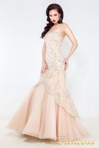 Вечернее платье 4672. Цвет кремовый. Вид 2
