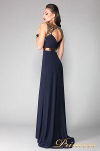 Вечернее платье 4673. Цвет синий. Вид 2