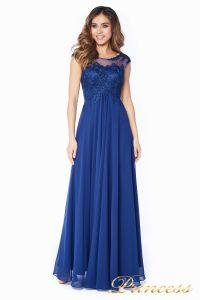Вечернее платье 4675-1 navy. Цвет синий. Вид 3