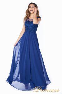 Вечернее платье 4675-1 navy. Цвет синий. Вид 1