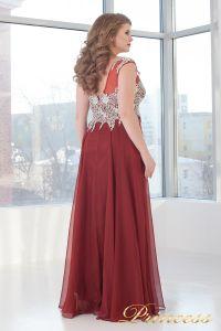 Вечернее платье 4675 D. Цвет терракотовый. Вид 4