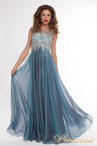 Вечернее платье 4675 blue small. Цвет синий. Вид 1