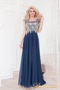 Вечернее платье 4675 navy. Цвет синий. Вид 3