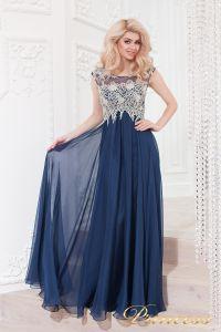 Вечернее платье 4675 navy. Цвет синий. Вид 2