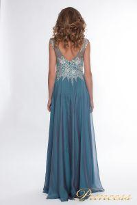 Вечернее платье 4675 blue small. Цвет синий. Вид 3