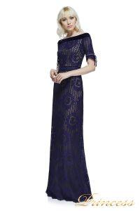 Вечернее платье AZE17702L NOTTE NUDE. Цвет синий. Вид 1