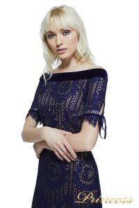 Вечернее платье AZE17702L NOTTE NUDE. Цвет синий. Вид 2