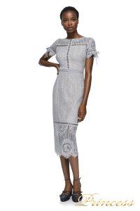 Вечернее платье AZE17712MDX PUMICE NUDE. Цвет серый. Вид 1
