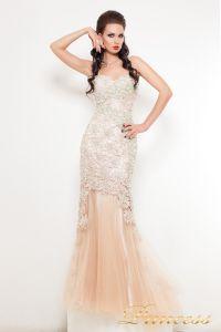 Вечернее платье 5039. Цвет шампань. Вид 1